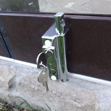 Раздвижная безрамная система Sliding Slim, замок с ключом