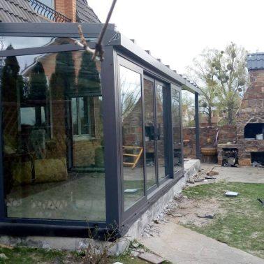 Зимний Сад для частного дома теплая алюминиевая система REYNAERS (Бельгия) АлюмГласс