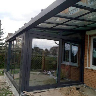 Подъемно сдвижная дверь теплая алюминиевая система REYNAERS (Бельгия) АлюмГласс