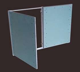 Ревизионный люк под покраску двух дверный