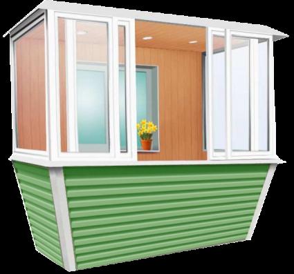 Остекление балкона и лоджии с выносом