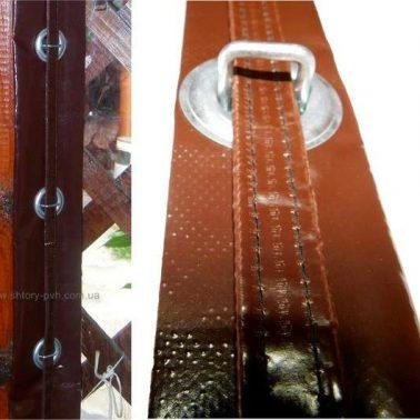 Металлическая скоба с ремешком (хлястиком) для общего крепления